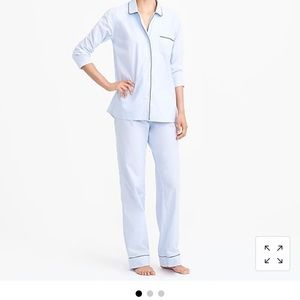 J. Crew long sleeve end on end pajama set